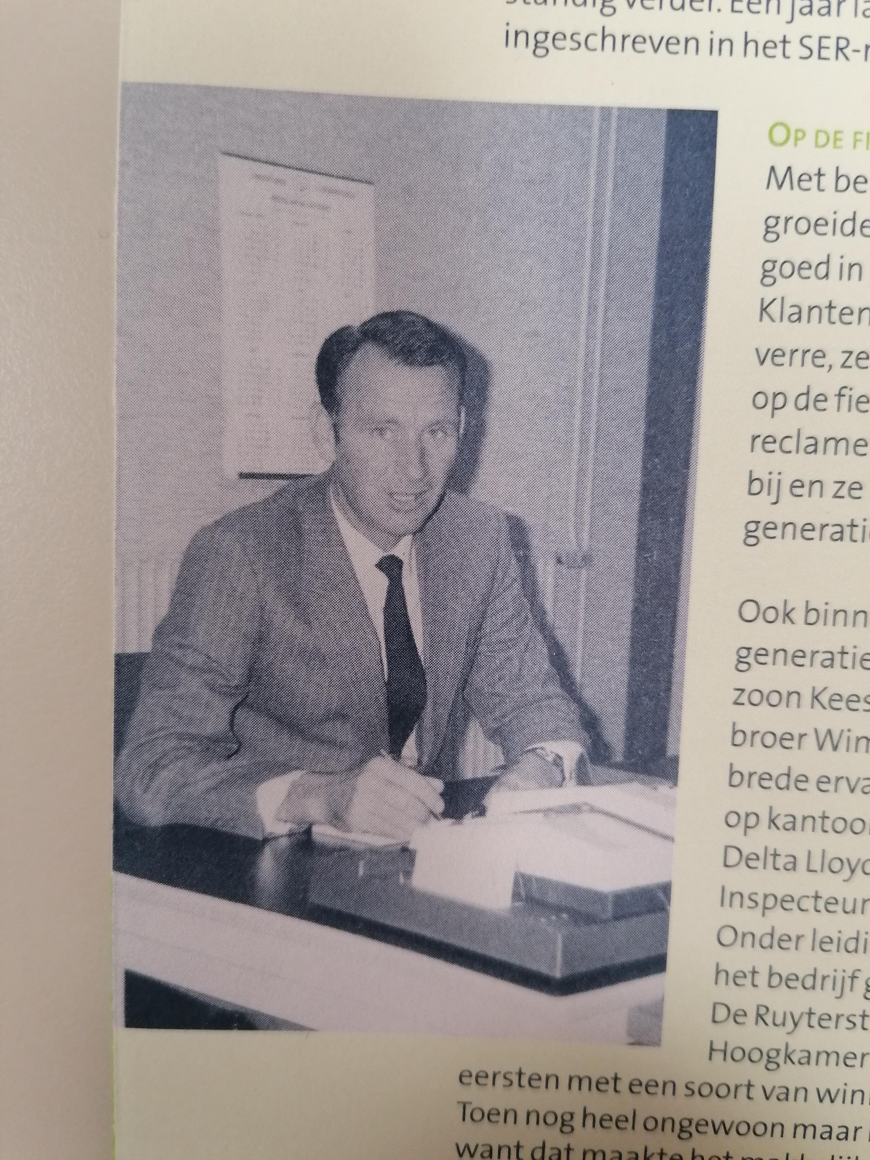 Kees Hoogkamer (foto uit nieuwsbrief van ons 60-jarig bestaan)
